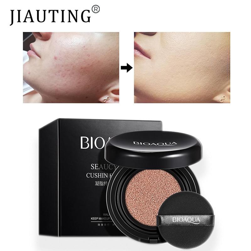 JIAUTING 1Pc BIOAQUA Air Cushion BB Cream Concealer Sunscreen Moisturizing Foundation Whitening Makeup Bare For Face Beauty недорого