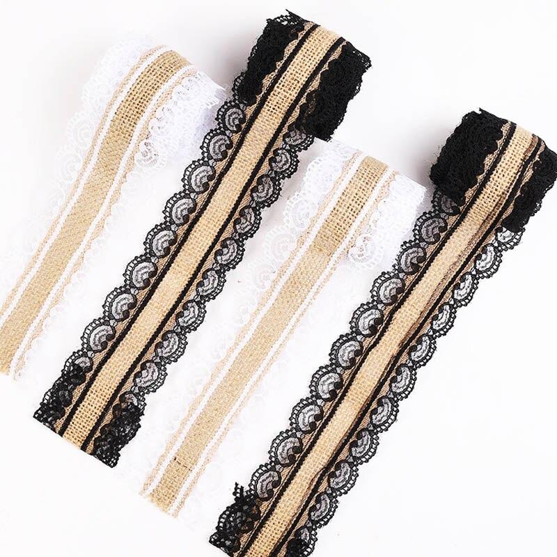 2 Yads de hermosa cinta de encaje, 2,5 cm de ancho, ropa DIY/accesorios florales/Decoración de fiesta encaje de decoración de boda