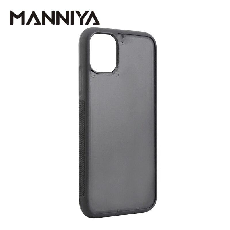 MANNIYA-جراب مطاطي لهاتف iphone 11/11 pro/11 pro max ، أخدود فارغ ، TPU PC ، شحن مجاني 100 قطعة/الوحدة