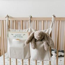 Bolsa de almacenamiento colgante para cuna de bebé, organizador de pañales, artículos esenciales para niños, juegos de cama para cuna
