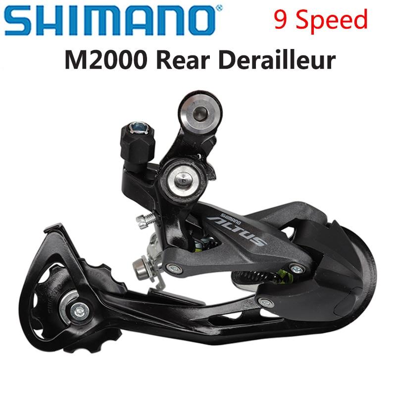 Shimano ALTUS M2000 9 velocidad desviador de cambios trasero MTB bicicleta de...