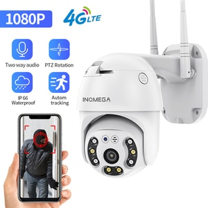 INQMEGA 1080P 4G WIFI Camera  2MP PTZ Camera Dome Wireless GSM SIM Card Security Outdoor CCTV P2P IR Night Vision 30M IP Camera