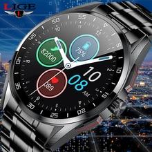 LIGE New 2021 Smart Watch Men Dial Call Full Touch Screen Sport Fitness Tracker IP68 Waterproof Smar