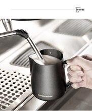 Barista pichet latte art Cappuccino   Cruches à lait en acier inoxydable, revêtement téflon, froissage de lait, pichet expresso, tasse artisanale, froissage
