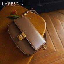 LA FESTIN Designer 2021 original trendy female fashion shoulder messenger bag leather underarm bag l