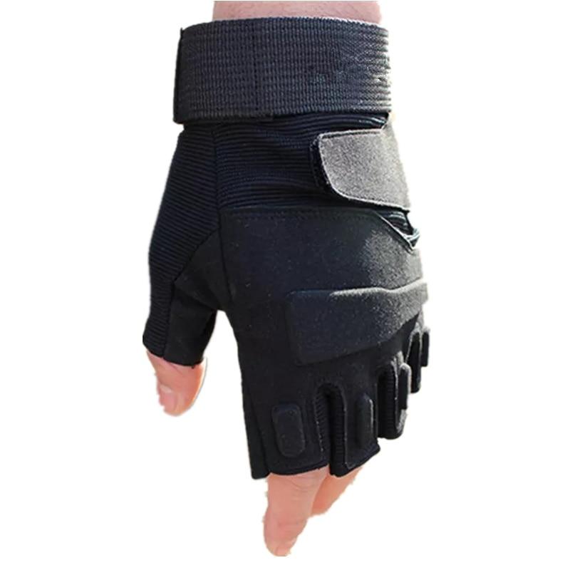 Army Men's Tactical Gloves Military Outdoor Sports Fitness Gym Men Women Antiskid Anti-Slip Cycle Half Finger Fingerless Gloves