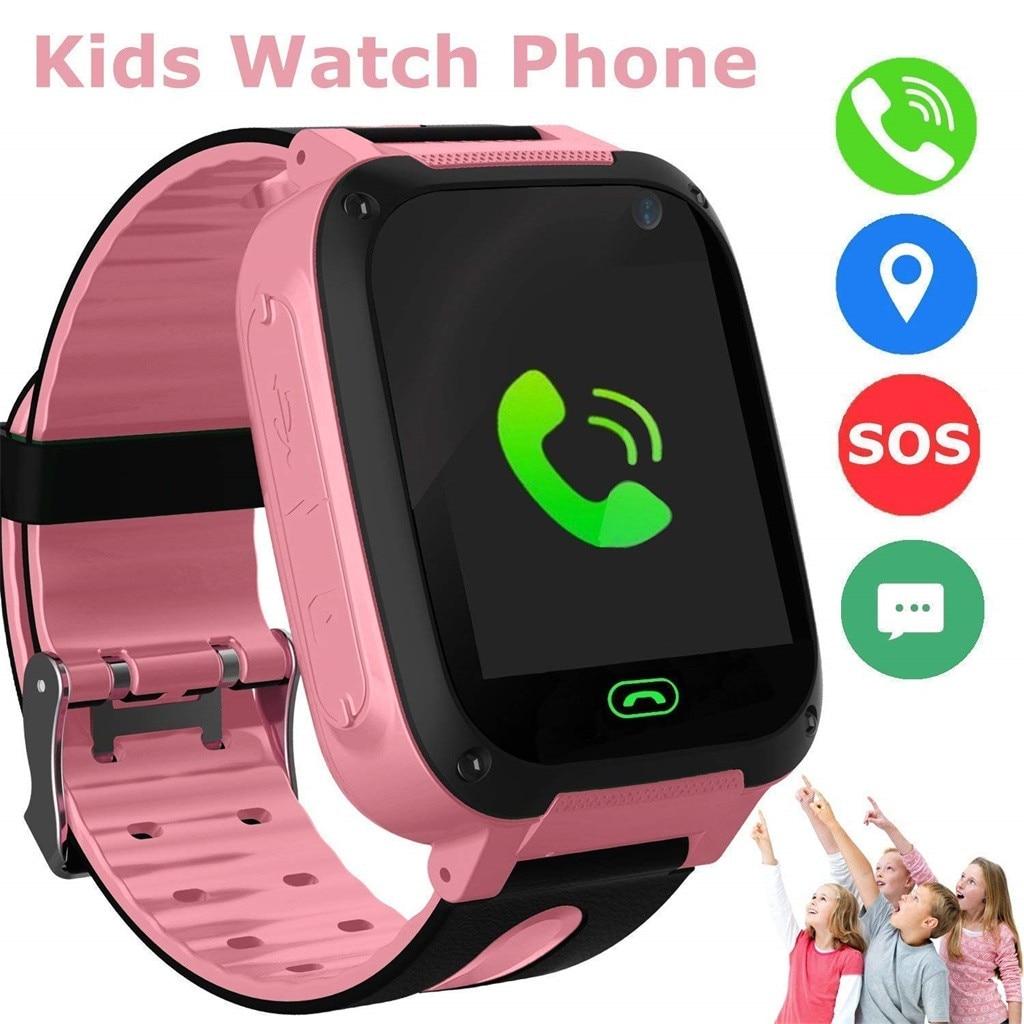 S4 Kids Smart Watch Phone LBS/GPS SIM Card Child SOS Call Locator Camera Screen Smartwatch Watches phone 2G