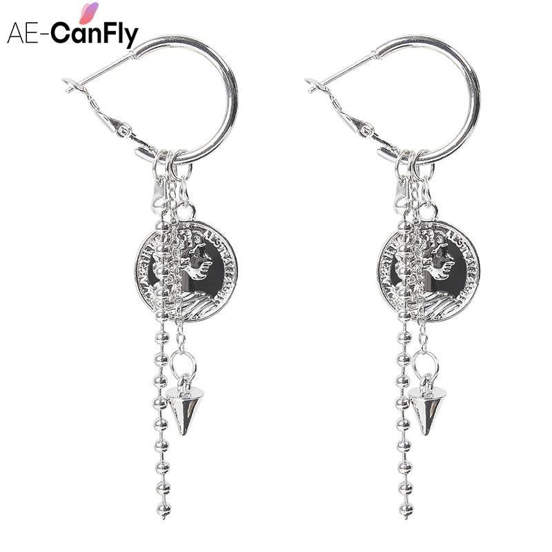 AE-CANFLY nuevo barroco Vintage de cristal caída borla pendientes para las mujeres...
