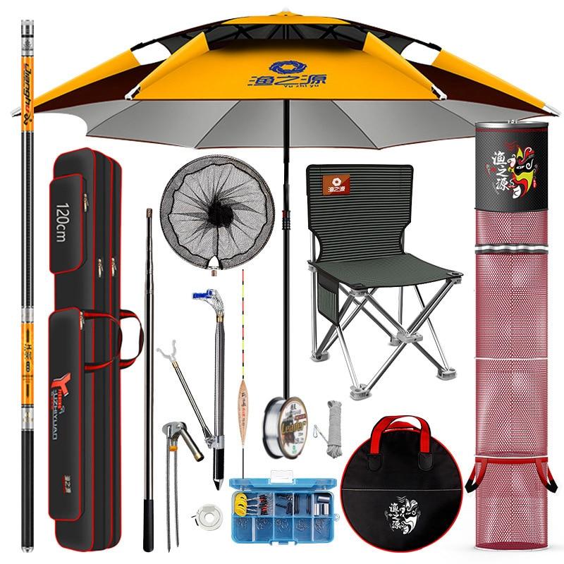 YINGTOUMAN 1SET/LOT Fishing Equipment Fishing Rod Set Combination Fishing Tackle Set Fishing Tackle Supplies