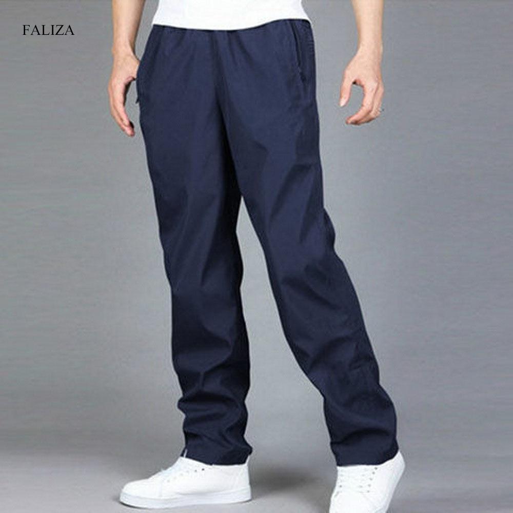 FALIZA Men's Casual Pants Breathable Quick Dry Loose Wide Leg Trousers Spring Autumn Cargo Pants Pantalon Hombre Plus 6XL PA61