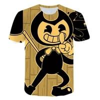 summer high quality t shirts for boys girls clothes bendy black short sleeve sweatshirt toddler baby o neck tops shirts bing