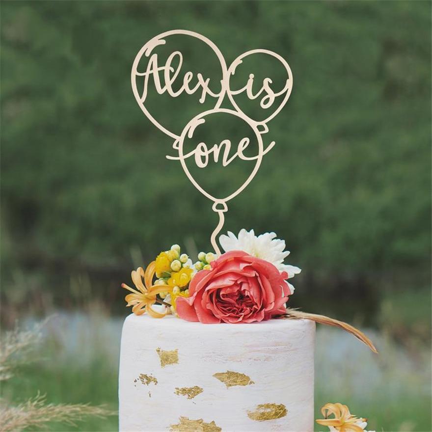 Personalisierte Ballon Geburtstag Kuchen Topper, Gewohnheit Baby Name und Alter Kuchen Topper, kinder Geburtstag Party Decor Baby Dusche Liefert
