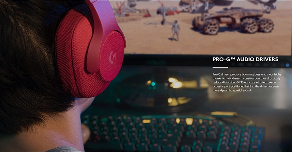 Logitech G433 Wired Headset DTS Headphone 7.1 Surround Gaming Headset with Mic Nintendo Switch PS4 Xbox One tablets and mobile enlarge