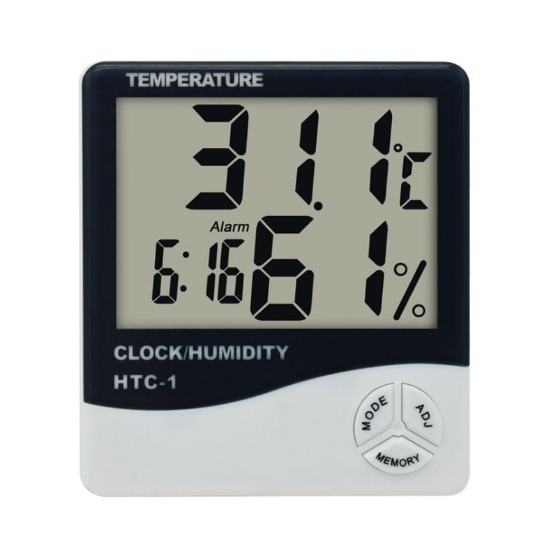 HTC-1 Indoor Room LCD Digital Electronic Thermometer Hygrometer Measuring Temperature Humidity Meter Alarm Clock Weather Station htc 1 indoor room lcd digital electronic thermometer hygrometer measuring temperature humidity meter alarm clock weather station