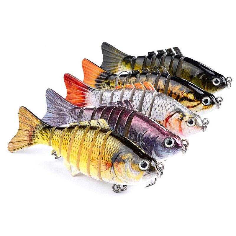 1 Uds Wobblers hundimiento Señuelos de Pesca cebo Artificial duro Multi articulado/señuelo para pesca de lubina