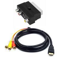 Аудиокабель 1080P HDMI-совместимый с S-video на 3 RCA Av для проектора/DVD/TV к аудиоразъему Phono с адаптером 3RCA Scart