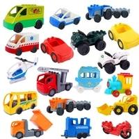 city airplane car motorcycle big building blocks collocation vehicle accessory kid diy toys compatible big size bricks set gift