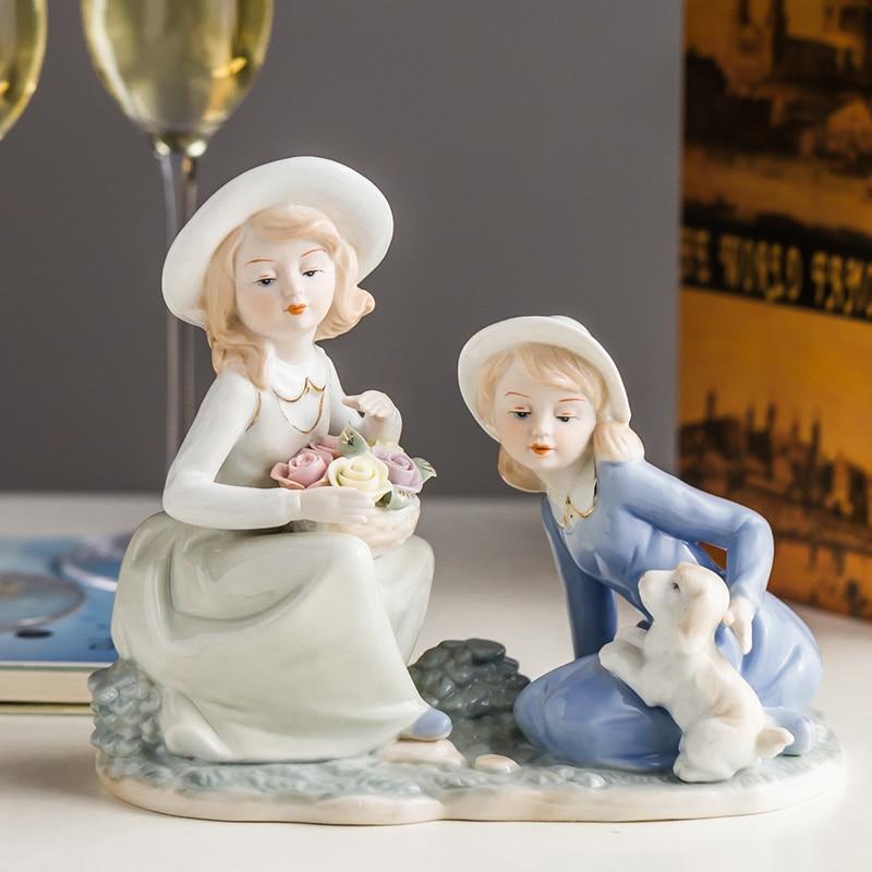 european-cute-western-girl-puppy-ceramic-ornaments-office-table-accessories-crafts-home-livingroom-desktop-figurines-decoration