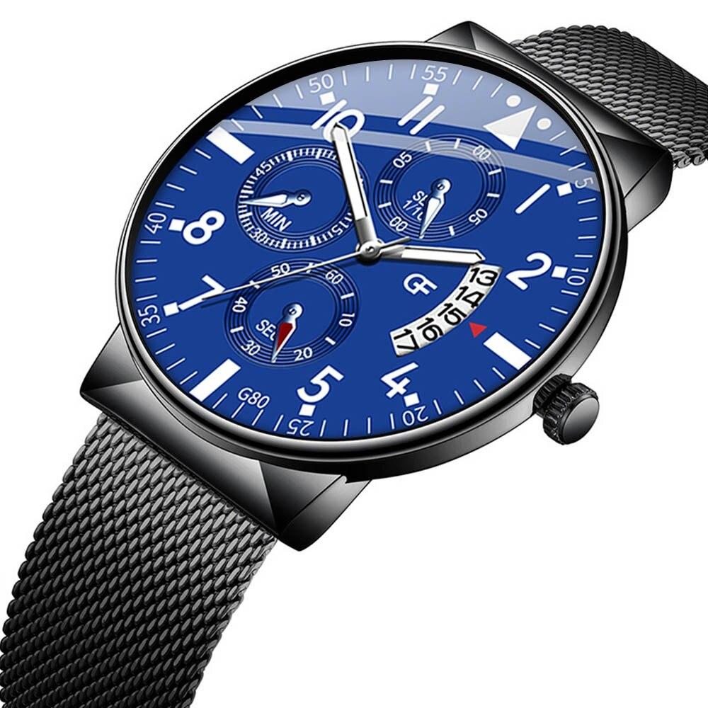Relojes de lujo de marca superior para hombre, reloj de cuero para hombre, lo que sea tarde, de todos modos, relojes con letras, relojes puntero con brillo, reloj Masculino