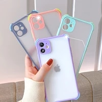 phone case for samsung galaxy note s10 s10e 10 8 s9 9 s8 lite pro plus shockproof matte transparent candy colors silicone cover