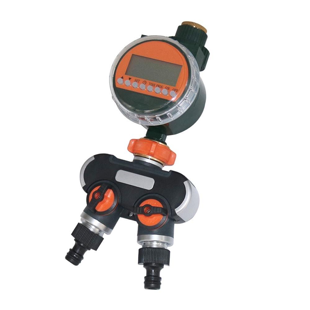 Conjunto Temporizador De Água Eletrônico Automático LEVOU Sensor de Chuva 2 1-way Divisor de Mangueira De Jardim com efeito de Estufa Agrícola Irrigação Controlador
