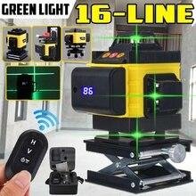 16 lignes 4D niveau Laser ligne verte puissant feu vert 4d faisceau vert niveau laser auto-nivelant Horizontal vertical outil de mesure