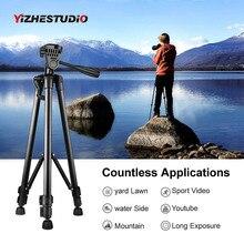Yizhestudio portable caméra trépied pour Canon Nikon Sony DSLR caméra caméscope 50-140 cm universel réglable trépied