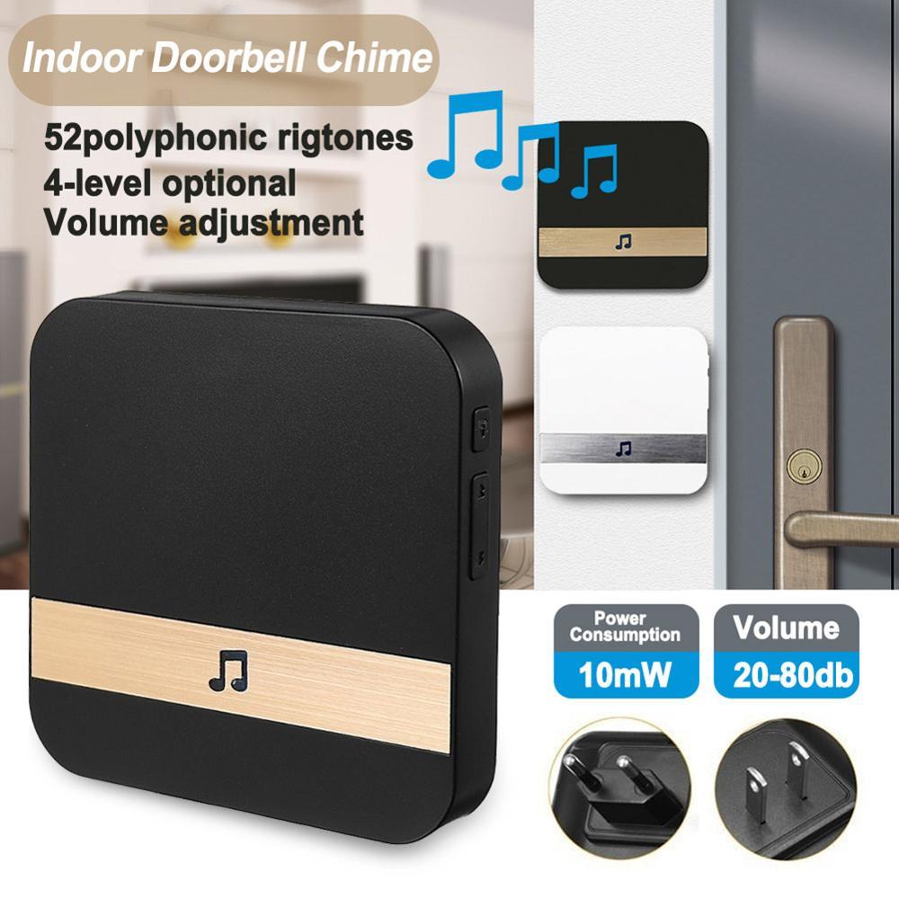 Wifi inalámbrico Video inteligente timbre 433 MHz timbre receptor de la música de seguridad interior de la puerta de intercomunicación Bell receptor 10-110dB suena