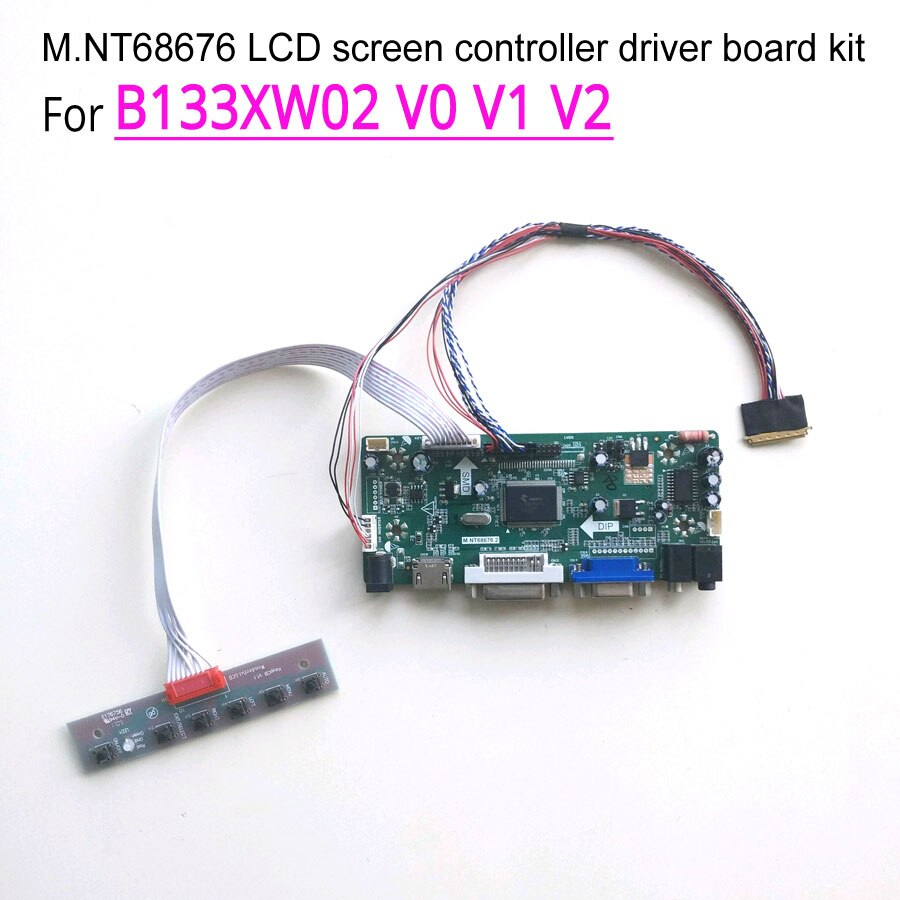 "Para B133XW02 V0 V1 V2 LVDS 40Pin WLED portátil LCD panel 1366*768 HDMI DVI VGA 13,3 ""M NT68676 controlador de pantalla coche kit"