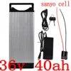 Batterie lithium 36V 30/35/40ah 1000W avec cellules sanyo avec système BMS 30a et chargeur 42V/5a pour vélo électrique