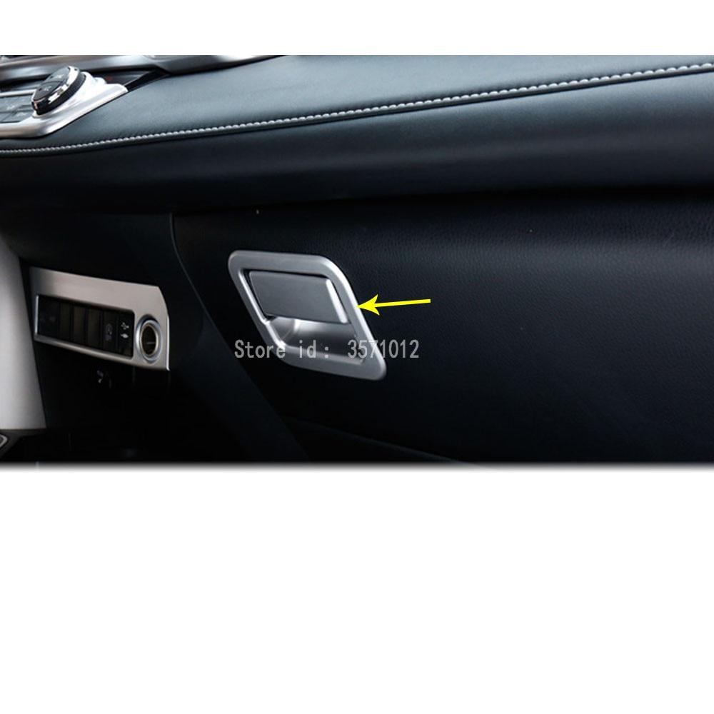 Caja de cromo ABS para guantera de coche, cubierta de hebilla para MANGO, accesorios de decoración para automóviles, 2 uds para Toyota RAV4 2016 2017 2018