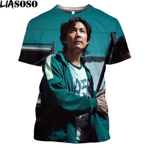 Fashion Squid Game T-Shirts Korean Clothes 3D Printed TV Inspired Ovesized T-Shirt Hip Hop Streetwear Men Women Harajuku Shirt