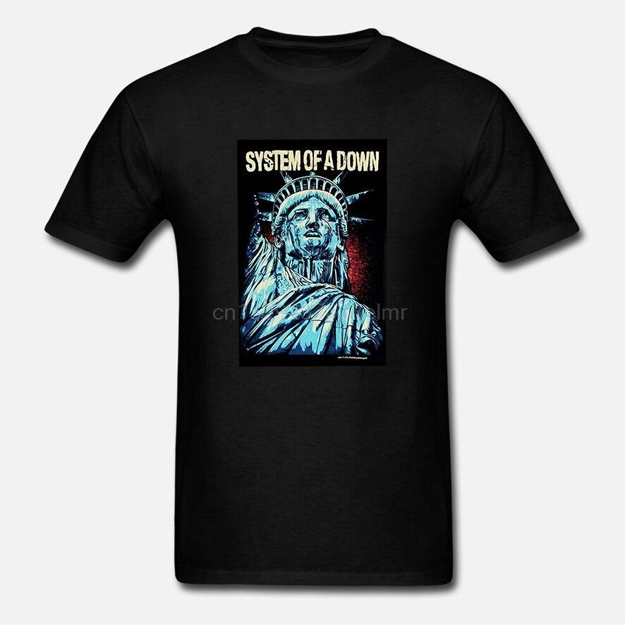Camiseta de algodón de moda de verano para hombre SISTEMA DE estatua de abajo Orf Liberty Camiseta talla S A 3Xl POJBGLLO