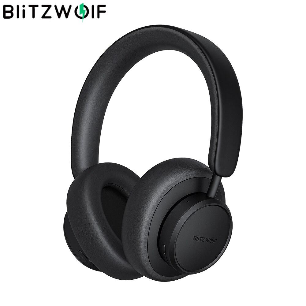 BlitzWolf BW-ANC5 نشط إلغاء الضوضاء سماعات بلوتوث متوافقة سماعة لاسلكية سماعة سماعة HiFi ستيريو باس