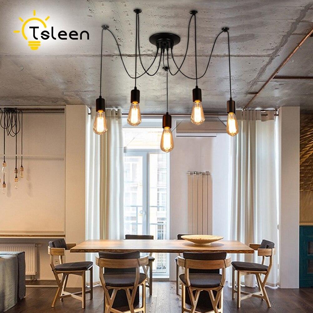 TSLEEN-lámparas colgantes Retro Para Loft, lámparas de brillo E27 E26, iluminación para...