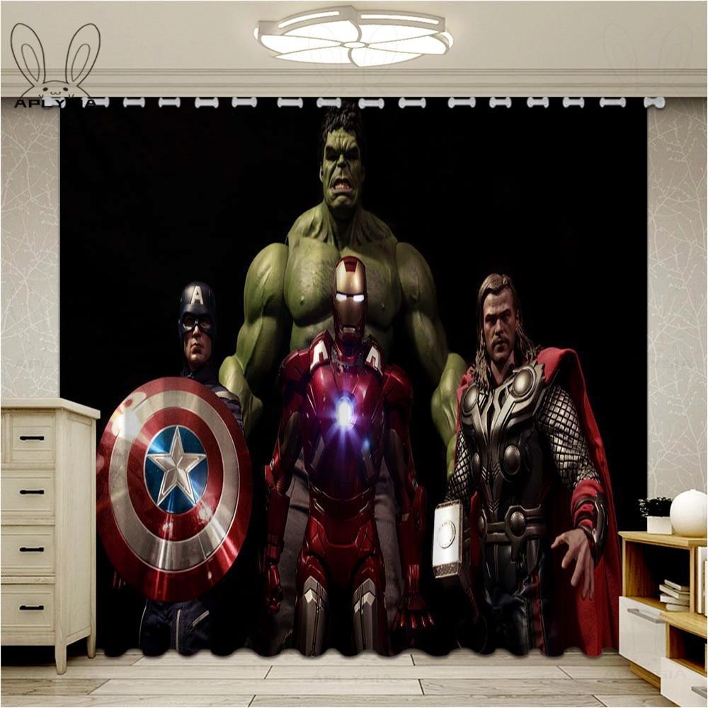 Cortinas de guerra do infinito de super-herói, para sala de estar, quarto das crianças, para escurecer as melhora caseira