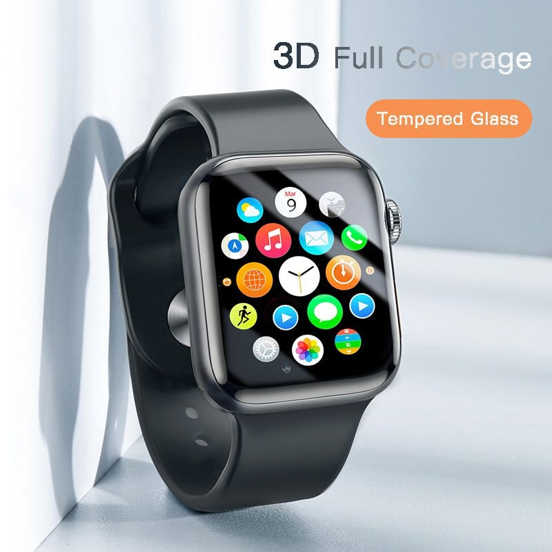 Cristal Protector fino de 0,23mm para Apple Watch 1 2 3 4 5 vidrio templado de cobertura completa 3D para iWatch 4 3 2 Protector de pantalla
