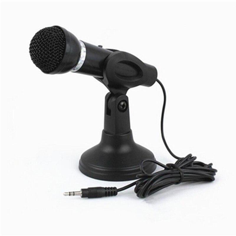 Профессиональный компьютерный микрофон Подставка 3,5 мм ручной караоке микрофон конденсаторный звук микрофонный микрофон для ПК телефона н...