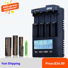 OPUS C3100 LCD Smart Battery Charger For Li-ion NiCd NiMH AA AAA 10440 14500 18650 17335 17500 Rechargeable Batteries