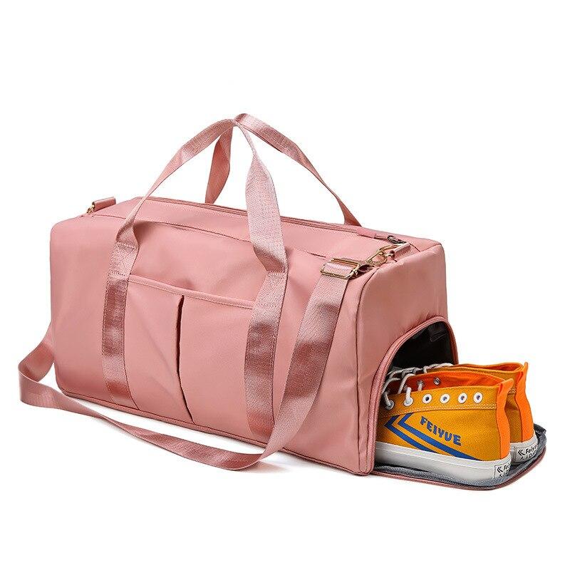 Travel Handbag Outdoor Waterproof Nylon Sports Gym Bags Men Women Training Fitness Sport Bag With Sh
