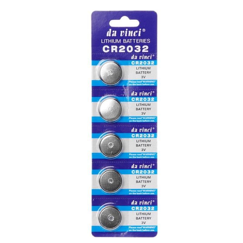 5 uds. Batería de botón 3V CR2032 BR2032 DL2032 ECR2032 pila de litio baterías de iones de litio reloj de promoción luz LED de ordenador elec