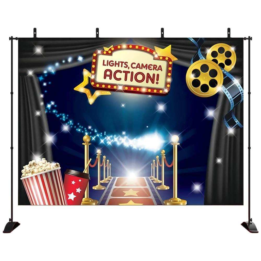 Fondo de fotografía de tema de película y Kit DIY de accesorios de estudio. Ideal como vestido y premios Fondo para fotomatón de ceremonia nocturna