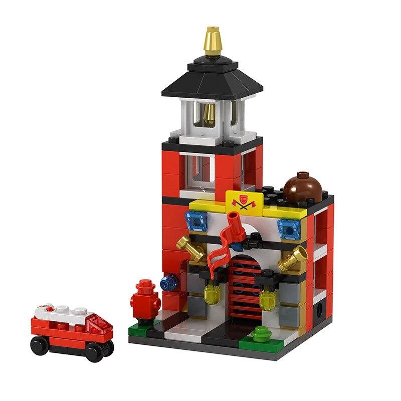 Castillo casa Serie Técnica DIY ladrillo edificio modelo bloqueo figuras rojo cumpleaños centro comercial niños Serie Técnica Castillo casa