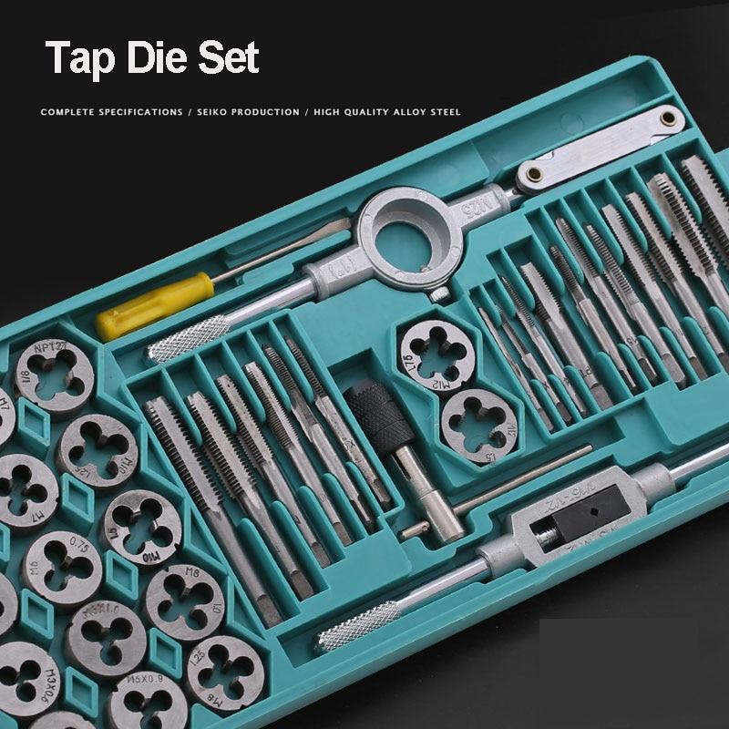 Набор инструментов для метчиков, ручной инструмент, гаечный ключ, ключ для измерения проволоки, комбинированный набор из легированной стали