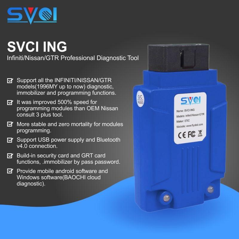 SVCI ING para Infiniti/Nissan/GTR de diagnóstico profesional apoyo a la programación Versión de Actualización de Nissan consultar-3 Plus
