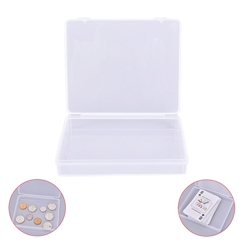 1PC Transparent Kunststoff Boxen Spielkarten Container PP Lagerung Fall Verpackung Poker Game Card Box Für Poker