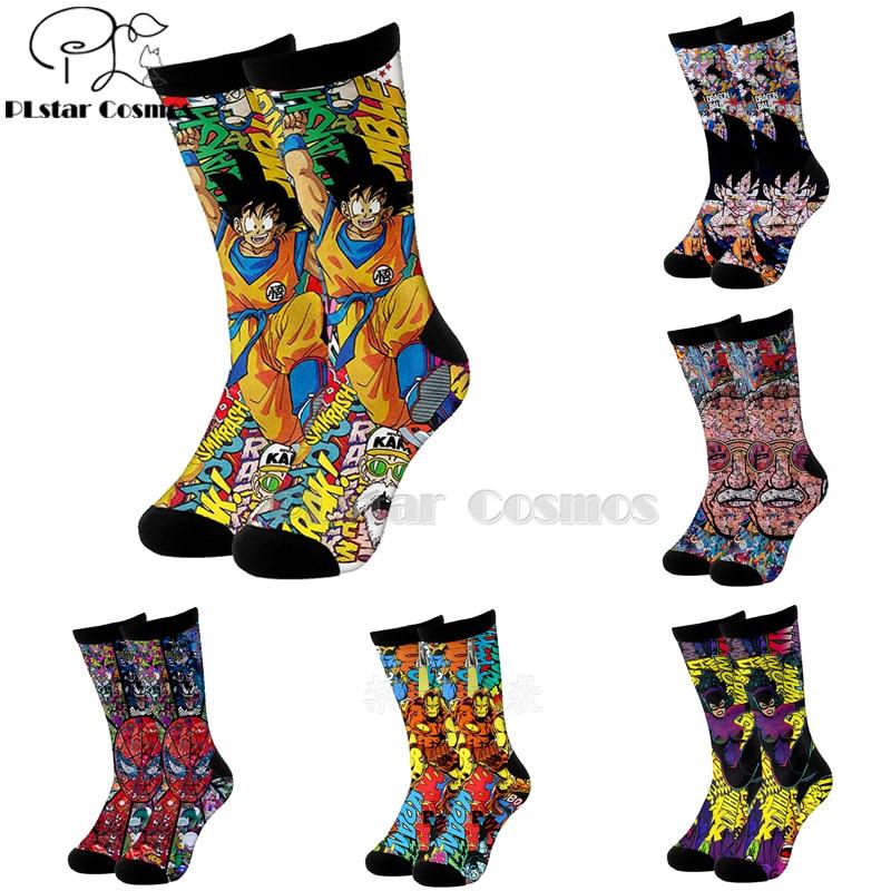 Plstar Cosmo comic marvel iron Man Dragón Ball Deadpool algodón calcetines dibujos animados 3d impresión calcetines altos hombres mujeres alta calidad