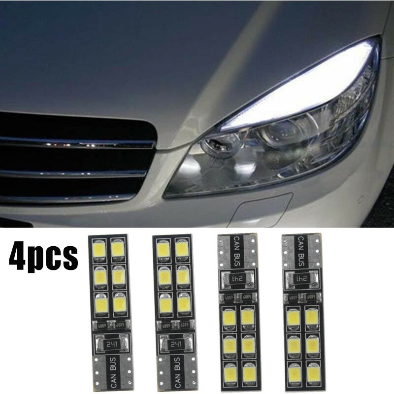 4pcs for car T1012V 6000K autp led error -free Eyebrow Bulb Car exterior modification parts forBenz LED W204 C300 C350 Aut Good
