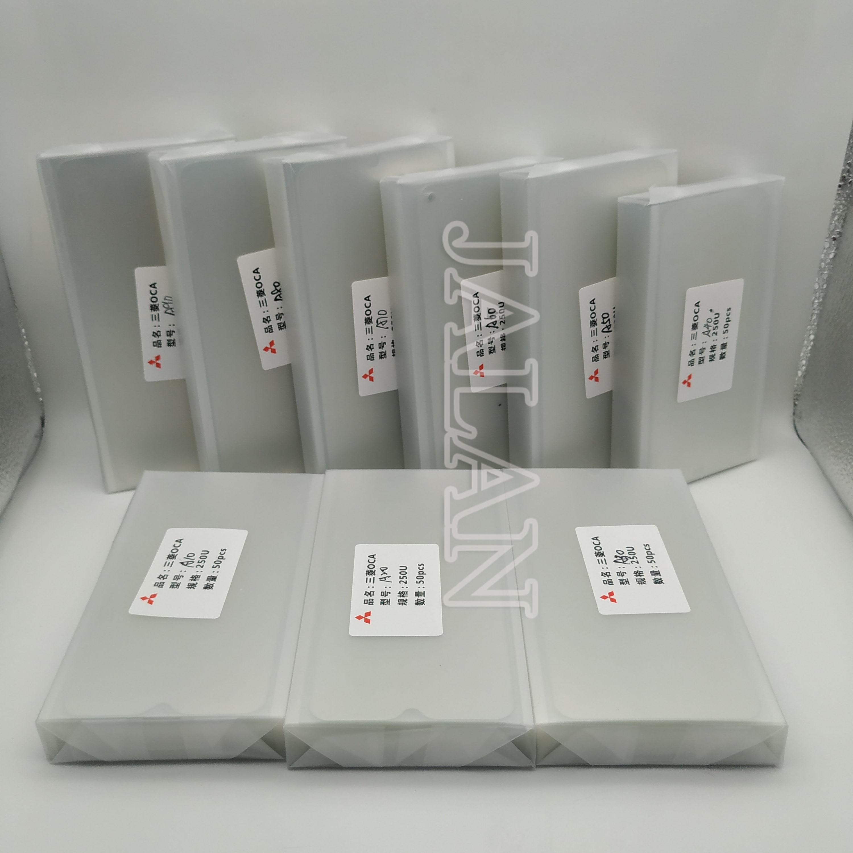 Pegamento OCA 250um para samsung A10 A20 A30 A40 A50 A60 A70 A80 pantalla lcd laminación de vidrio para Mitsubishi oca película adhesiva