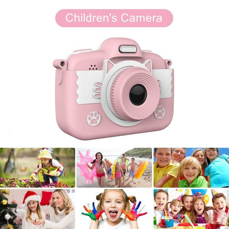 Bonito da Foto para Crianças Brinquedos para Meninas Tela de Toque Câmera Meninos Crianças Lente Dupla Mini Digital Presente Aniversário 3.0
